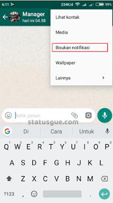 Tutorial Cara Membisukan Status Teman Melalui Kontak Chat Di Whatsapp
