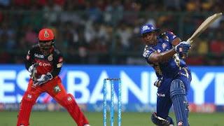 Kieron Pollard 70 - RCB vs MI 12th Match IPL 2017 Highlights