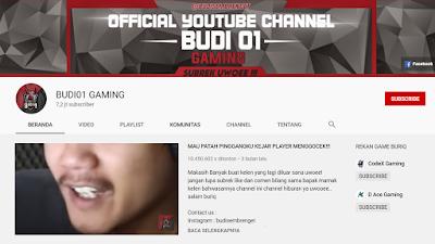 Youtuber Gaming Free Fire - BUDI01 GAMING