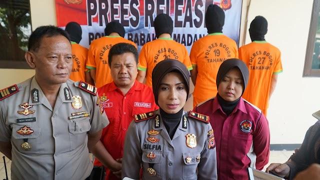 Polsek Babakan Madang Bogor Berhasil Amankan 5 Pelaku Penipuan Belanja Online