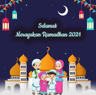 kartu ucapan ramadhan kartun