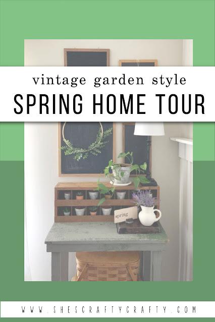 Spring Home Tour - Vintage Garden Style pinterest pin