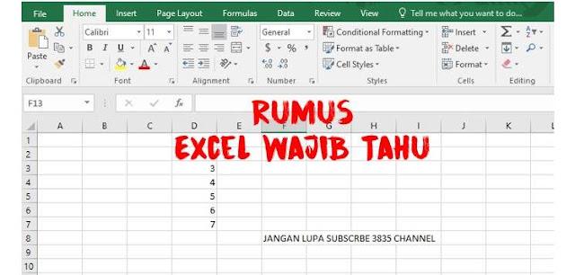 Rumus Microsoft Excel Dunia Kerja