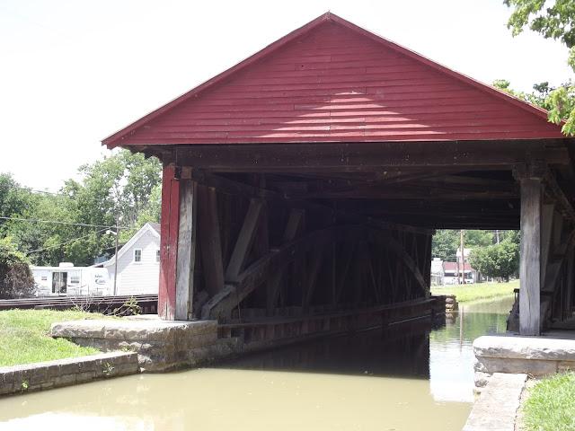 Duck Creek Aqueduct - Franklin County Historical Marker