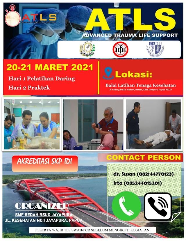 Info Pendaftaran ATLS 2021 Lokasi Jayapura, Papua