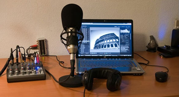 Equipments for podcasting