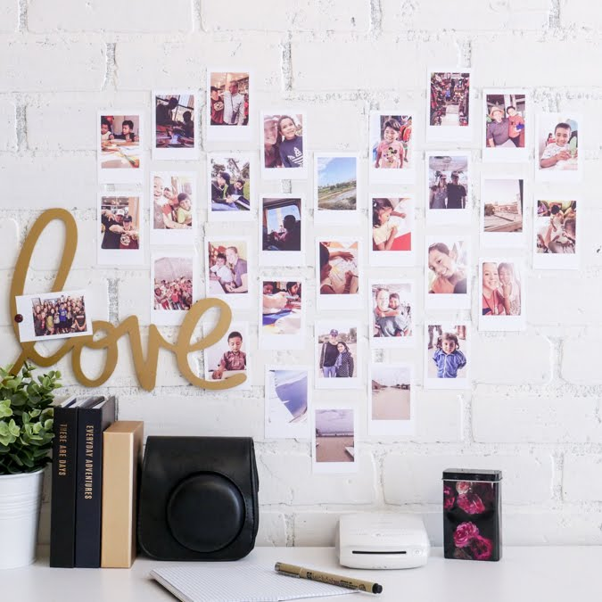 Heidi Swapp Instax Vintage LOVE Wall Art + Template by Jamie Pate | @jamiepate for @heidiswapp