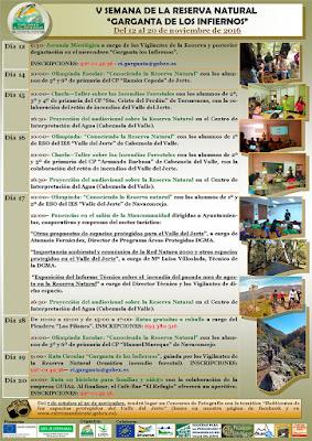 V Semana de la Reserva Natural Garganta de los Infiernos (Valle del Jerte)