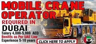Mobile Crane Operator Job Recruitment in Sharjah