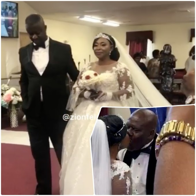 Video: Actress, Kyeiwaa's white wedding in the USA