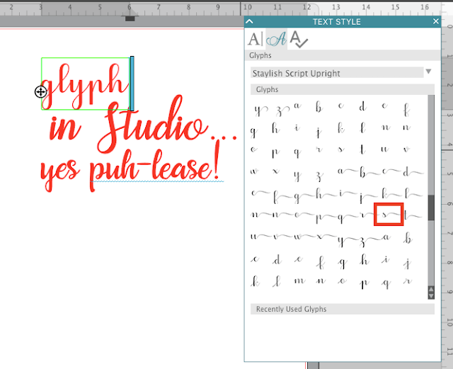 silhouette studio v4 font organization