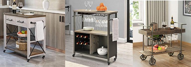Farmhouse Kitchen Carts & Farmhouse Bar Carts Rustic Kitchen Carts & Rustic Bar Carts