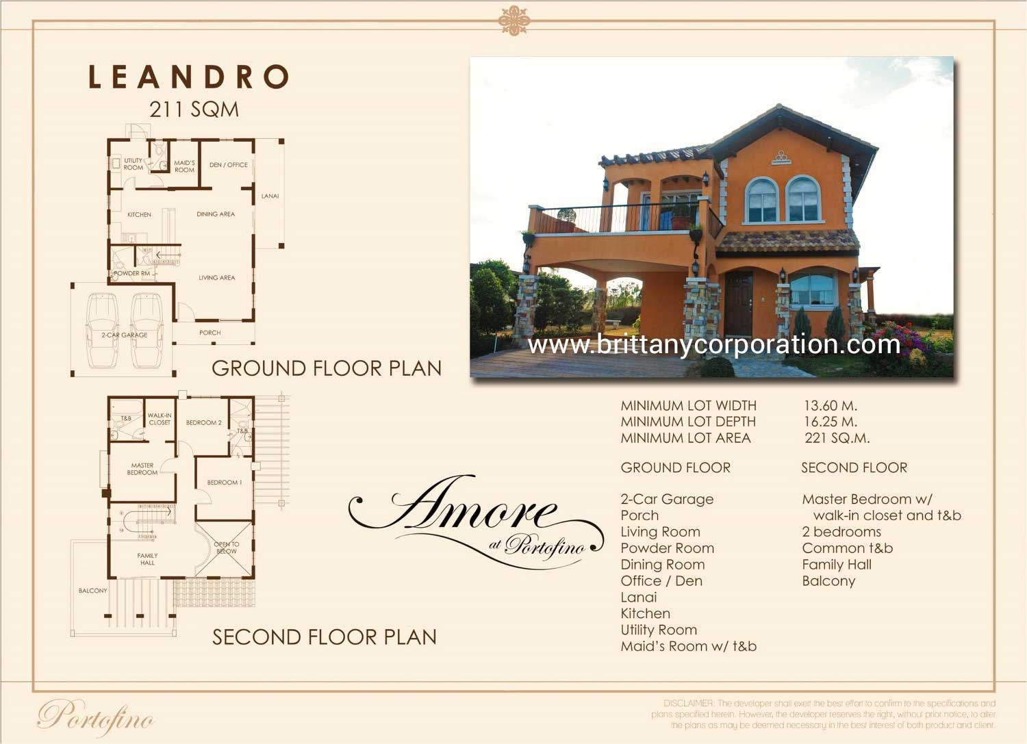 Floor Plan of Carletti Ready Home - Amore Portofino | House and Lot for Sale Daang Reyna Las Pinas