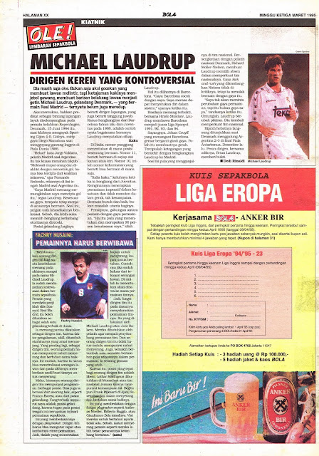 MICHAEL LAUDRUP OF REAL MADRID DIRIGEN KONTROVERSIAL