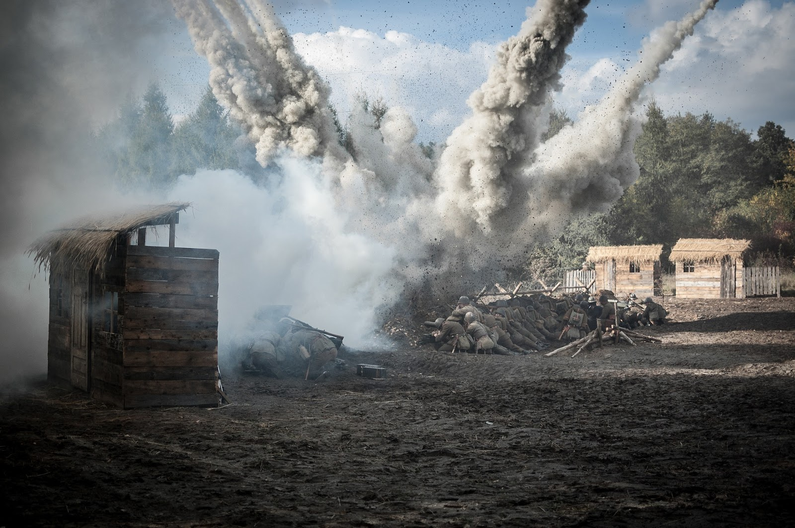 a large bomb explodes in the opening of a town to illustrates a blog post about movie The mountain 2