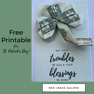 Money Shamrock with Free Printable