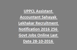UPPCL Assistant Accountant Sahayak Lekhakar Recruitment Notification 2016 256 Govt Jobs Online Last Date 28-10-2016