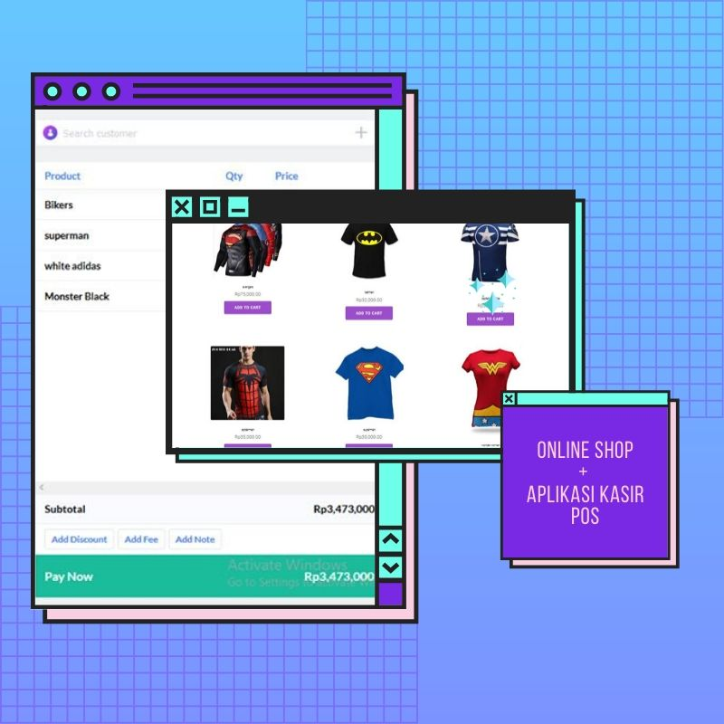aplikasi kasir online toko online shop website