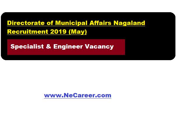 Directorate of Municipal Affairs Nagaland Recruitment 2019 (May)