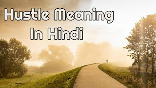Hustle meaning in hindi