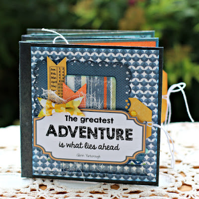 Greatest Adventure Mini Album featuring June Club Q by Quick Quotes designed by Rhonda Van Ginkel