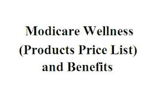 modicare wellness products price list
