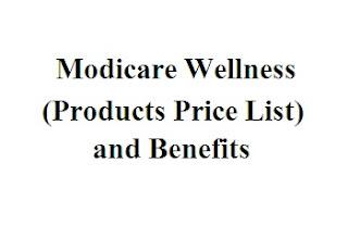 modicare wellness products price list