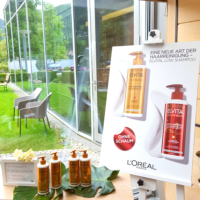 L´Oréal Paris Blogger Event am Tegernsee - Haarbehandlung Elvital Öl Magique Low Shampoo