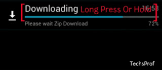android stop download in progress