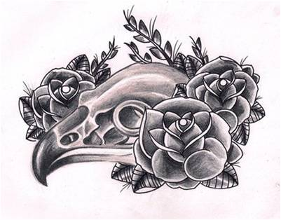 Tattoo Simbols Bird Skull Tattoos Designs