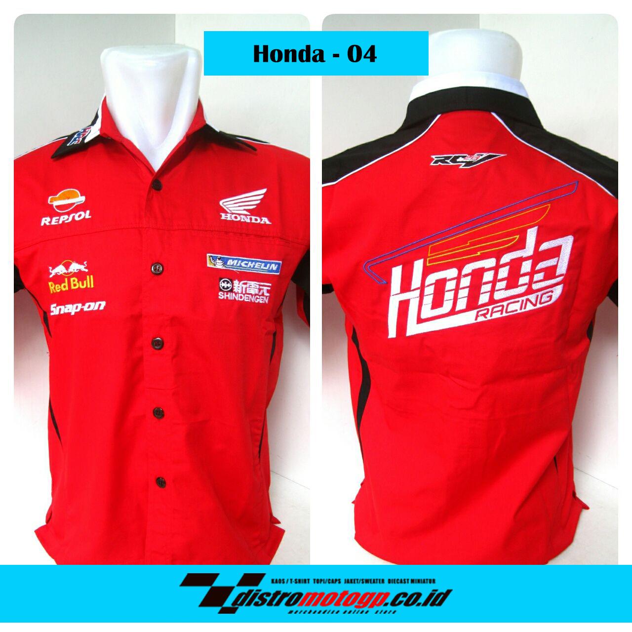 Kemeja Motogp Honda Racing Team 2017 04 Distro Kaos Topi Jaket Redbull Rp 145000