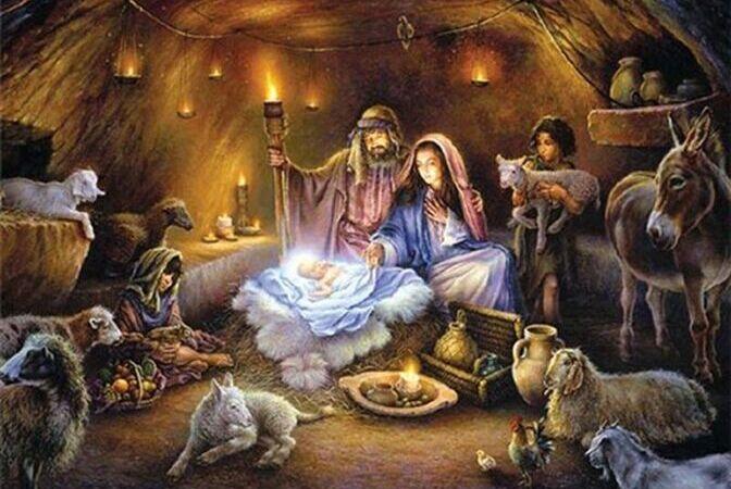Nacimiento de Jesús en el pecebre