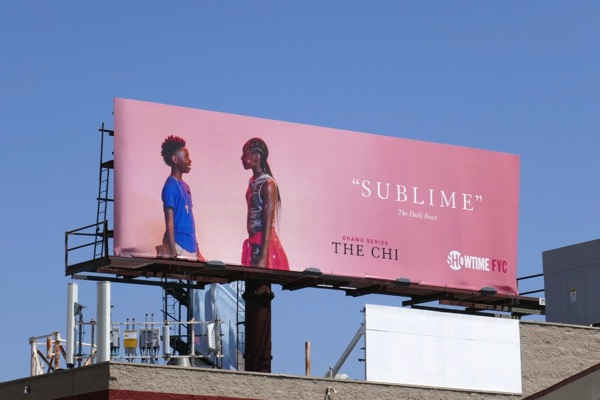 The Chi season 1 Sublime Emmy FYC billboard