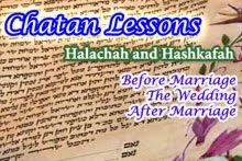 Chatan Lessons - From Before Marriage Until After