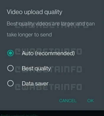WhatsApp Upcoming Feature: Video Quality Upload