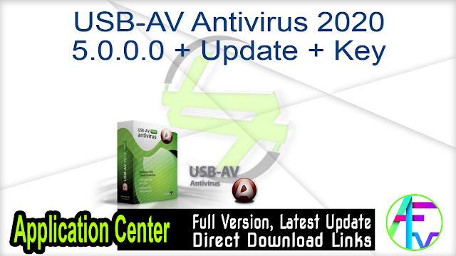 USB-AV Antivirus 2020 5.0.0.0 + Update + Key