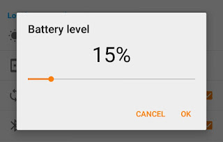 Set battery level