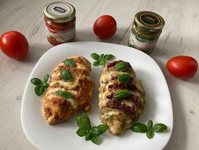Kurczak w pesto z suszonymi pomidorami