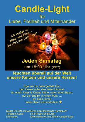 Jeden Samstag um 18:00 Uhr ist Worldwide-Candle-light