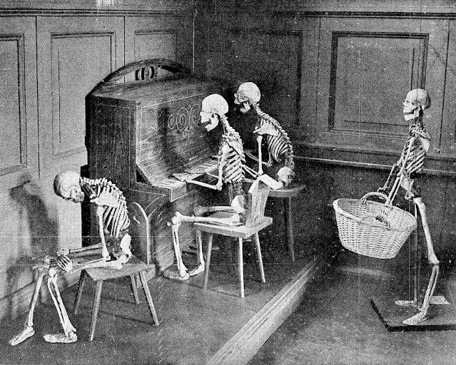 1927 Berlin Expo skeletons posed as living