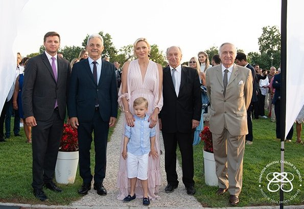 Princess Charlene, Crown Prince Jacques and Mr. Gareth Wittstock