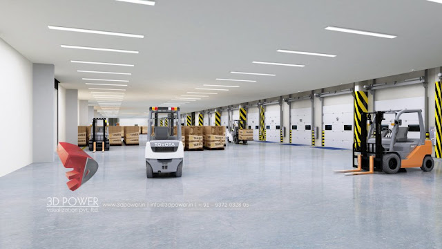 Interior Rendering of Tamer Warehouse