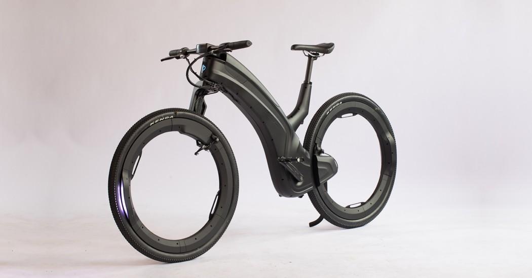 Hubless e-bike is a designer piece