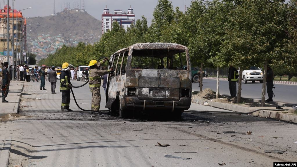 Five Afghan Government Employees Killed in Kabul Bus Bombing