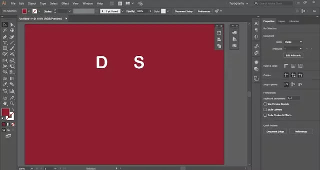 Overlap Letters in Adobe Illustrator