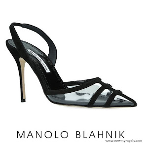Letizia wore a new Manolo Blahnik slingback pumps