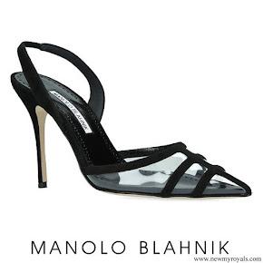 Letizia wore a new Manolo Blahnik slingback pumps