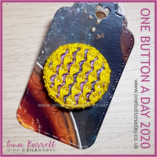 One Button a Day 2020 by Gina Barrett - Day 73: Helter Skelter
