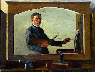 Douglas Dundas, Self Portrait, Portraits of Painters, Fine arts, Portraits of painters blog, Paintings of Douglas Dundas, Painter Douglas Dundas