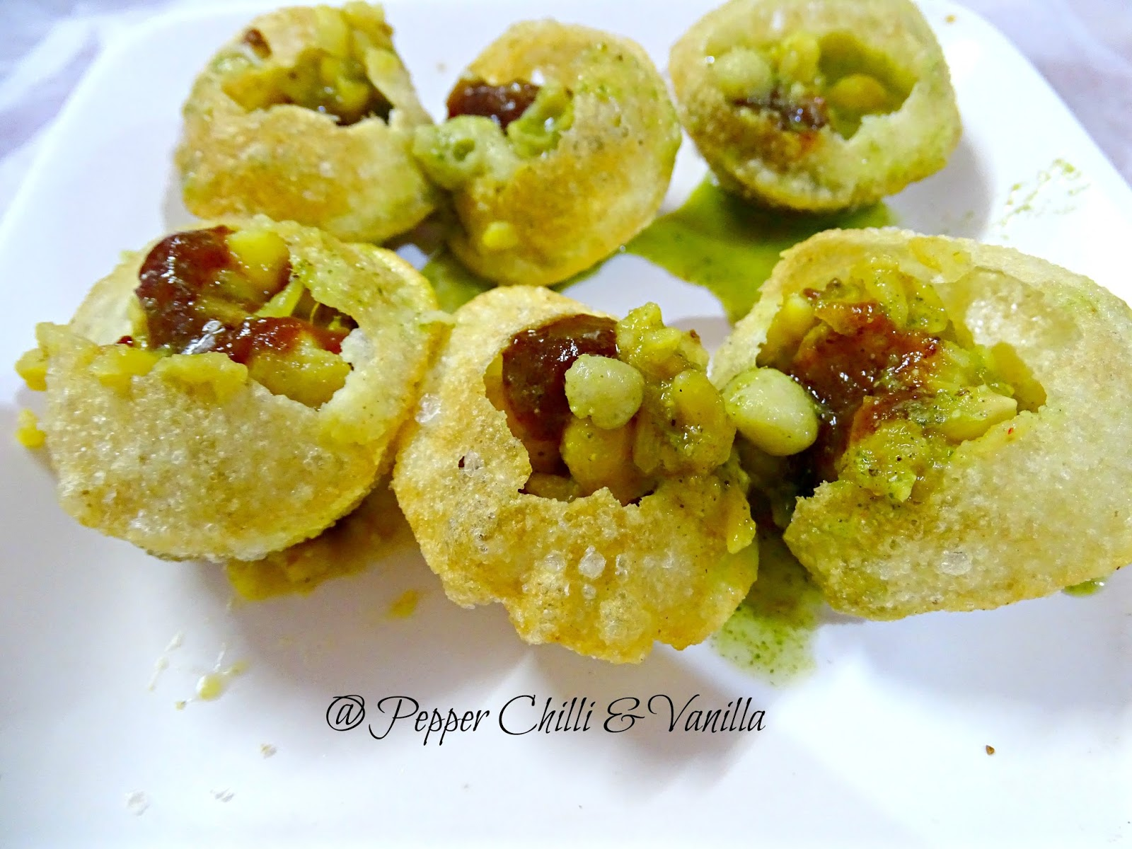 mumbai style ragda pani puri